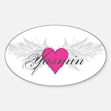 Yasmin-angel-wings.png Sticker (Oval)