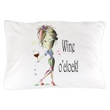 Wine oclock! Pillow Case