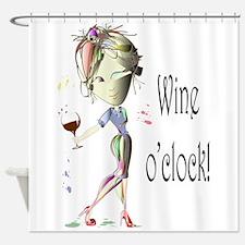 Wine oclock! Shower Curtain
