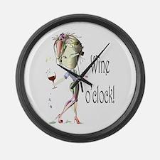 Wine oclock! Large Wall Clock