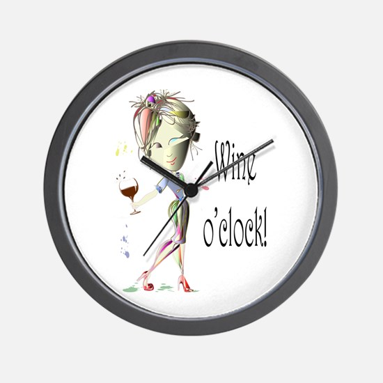 Wine oclock! Wall Clock