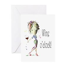 Wine oclock! Greeting Card
