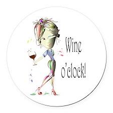 Wine oclock! Round Car Magnet