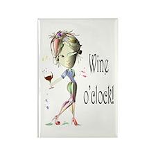Wine oclock! Rectangle Magnet