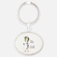 Wine oclock! Oval Keychain