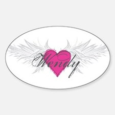 Wendy-angel-wings.png Sticker (Oval)