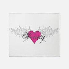 Wendy-angel-wings.png Throw Blanket