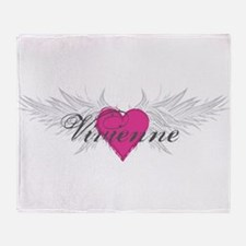 Vivienne-angel-wings.png Throw Blanket