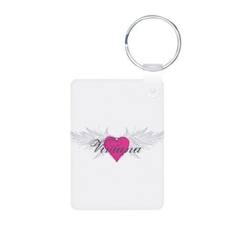 Viviana-angel-wings.png Aluminum Photo Keychain