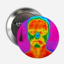 Thermogram of a man's head and shoulders - 2.25' B