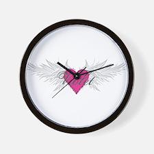 Violet-angel-wings.png Wall Clock