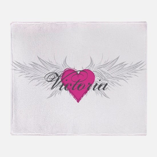 Victoria-angel-wings.png Throw Blanket