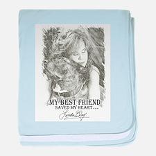 LBWF Best Friends Tshirt baby blanket
