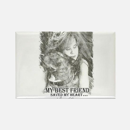 LBWF Best Friends Tshirt Rectangle Magnet