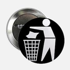 No litter sign - 2.25' Button (10 pack)