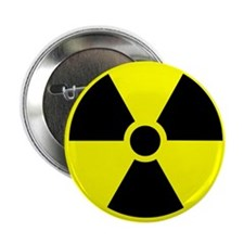 Radiation warning sign - 2.25' Button (10 pack)