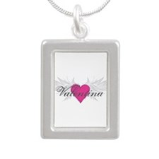 Valentina-angel-wings.png Silver Portrait Necklace