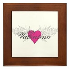 Valentina-angel-wings.png Framed Tile