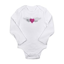 Valentina-angel-wings.png Long Sleeve Infant Bodys