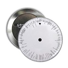 Time zones wheel, 19th century - 2.25' Button (10