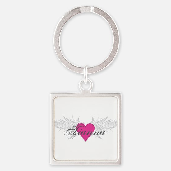 Tianna-angel-wings.png Square Keychain