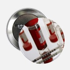 Blood samples and syringe - 2.25' Button (10 pack)
