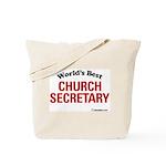 World's Best Church Secretary Tote Bag