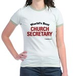 World's Best Church Secretary Jr. Ringer T-Shirt