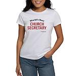 World's Best Church Secretary Women's T-Shirt