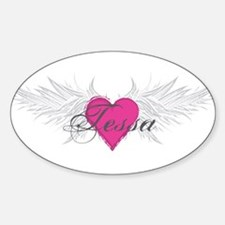 Tessa-angel-wings.png Sticker (Oval)