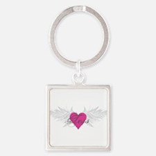 Tess-angel-wings.png Square Keychain