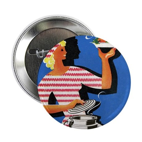 Electric cooker, 1940s artwork - 2.25' Button (100