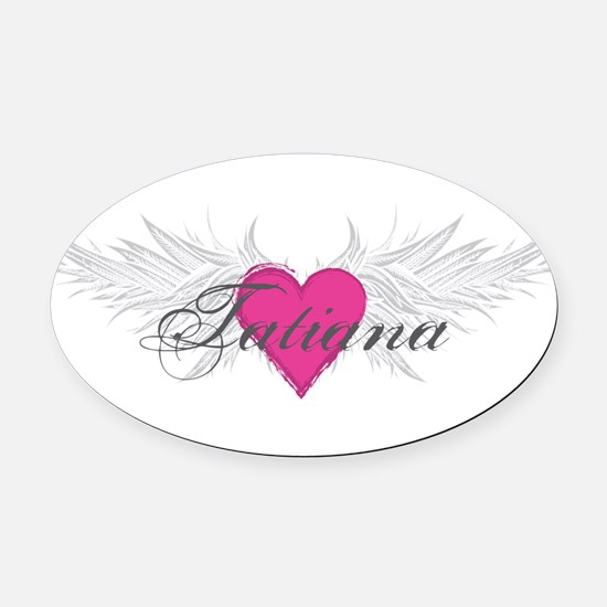 Tatiana-angel-wings.png Oval Car Magnet
