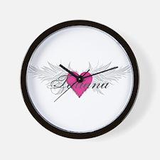 Tatiana-angel-wings.png Wall Clock