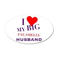 Valentine 20x12 Oval Wall Decal
