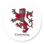 Lion - Cumming Round Car Magnet