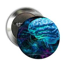 Brain research, conceptual artwork - 2.25' Button