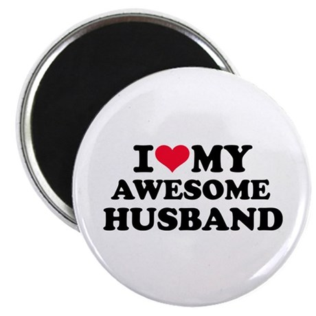 "I love my awesome husband 2.25"" Magnet (100 pack)"