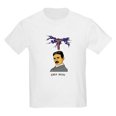 Tesla: Idea Man Kids Light T-Shirt