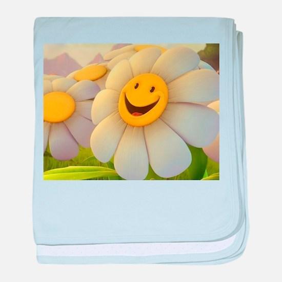 Smiling Daisy baby blanket