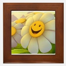 Smiling Daisy Framed Tile