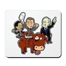 Bush Cabinet Bull Ride Mousepad