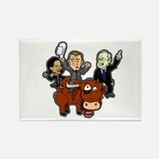 Bush Cabinet Bull Ride Rectangle Magnet
