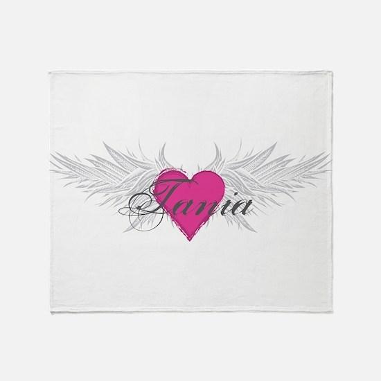 Tania-angel-wings.png Throw Blanket