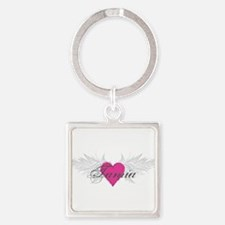 Tamia-angel-wings.png Square Keychain