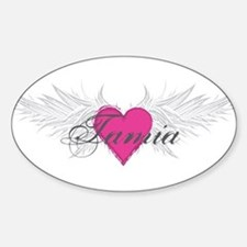 Tamia-angel-wings.png Sticker (Oval)