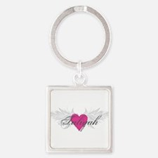 Taliyah-angel-wings.png Square Keychain