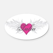 Talia-angel-wings.png Oval Car Magnet