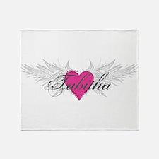Tabitha-angel-wings.png Throw Blanket
