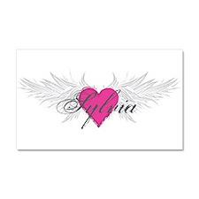 Sylvia-angel-wings.png Car Magnet 20 x 12